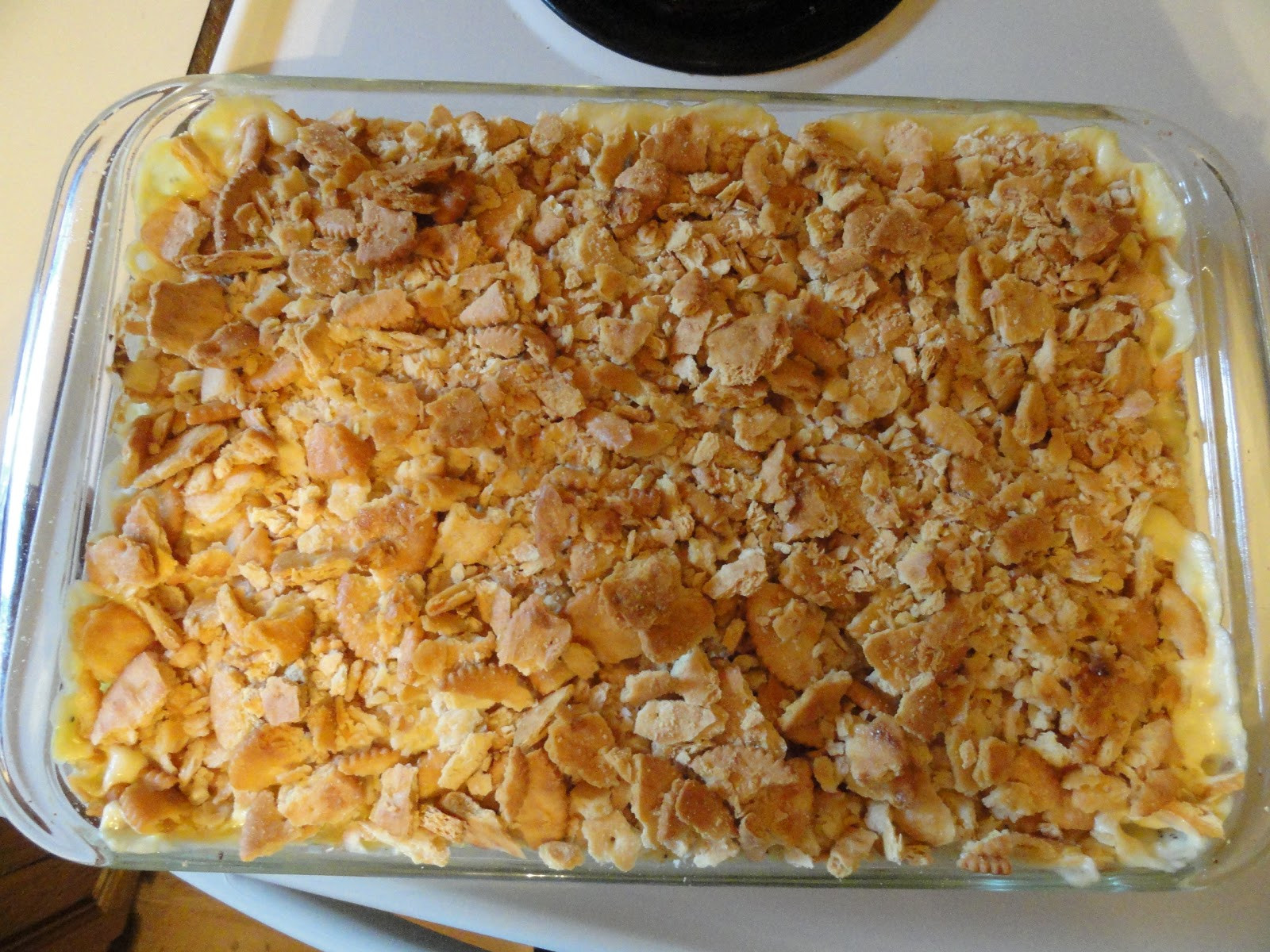 Chicken Casserole With Ritz Crackers  Coffee Cups And Crafts Creamy Chicken Casserole aka