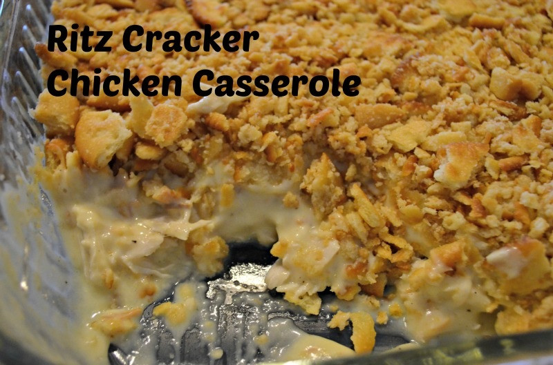 Chicken Casserole With Ritz Crackers  Yours Mine & Ours Ritz Cracker Chicken Casserole