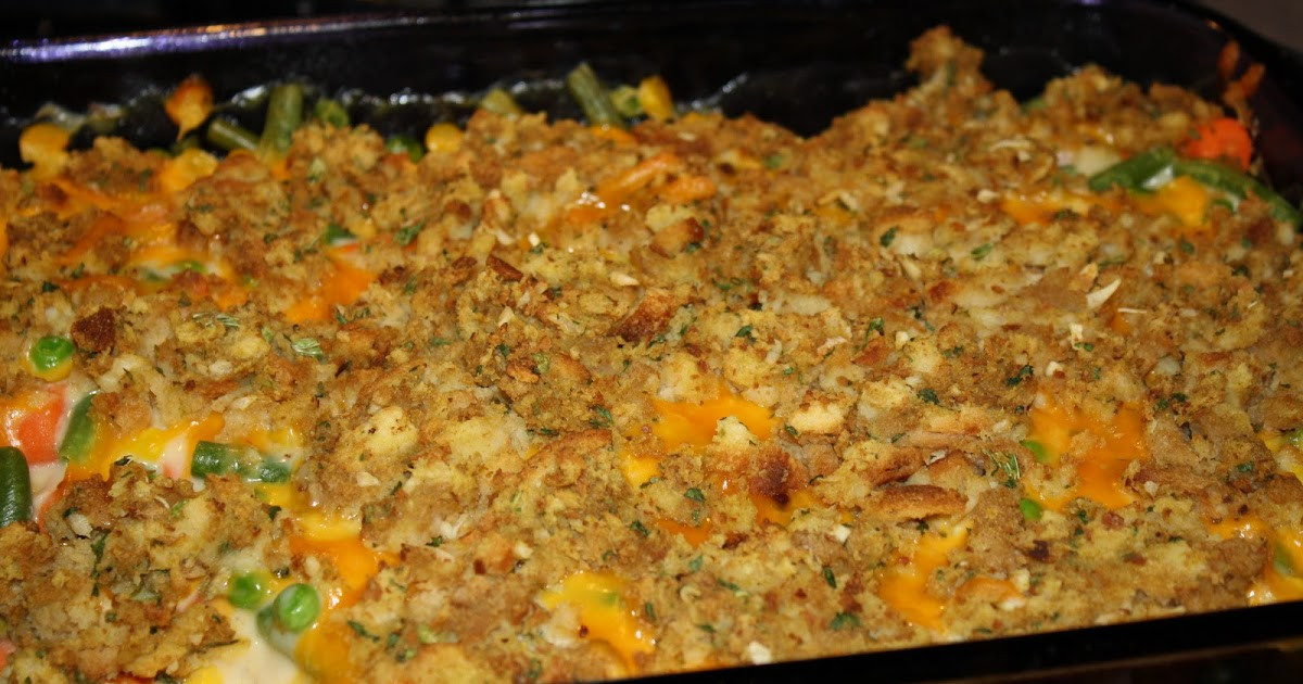 Chicken Casserole With Stove Top Stuffing And Cream Of Mushroom Soup  Recipes For Your Family Easy Chicken Bake with Stove Top