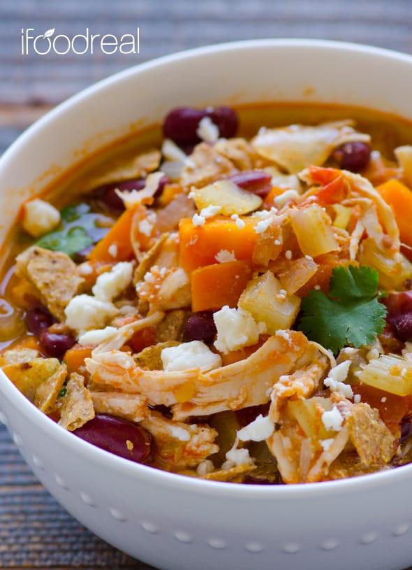 Chicken Chili Crock Pot  Crockpot Buffalo Chicken Chili iFOODreal Healthy
