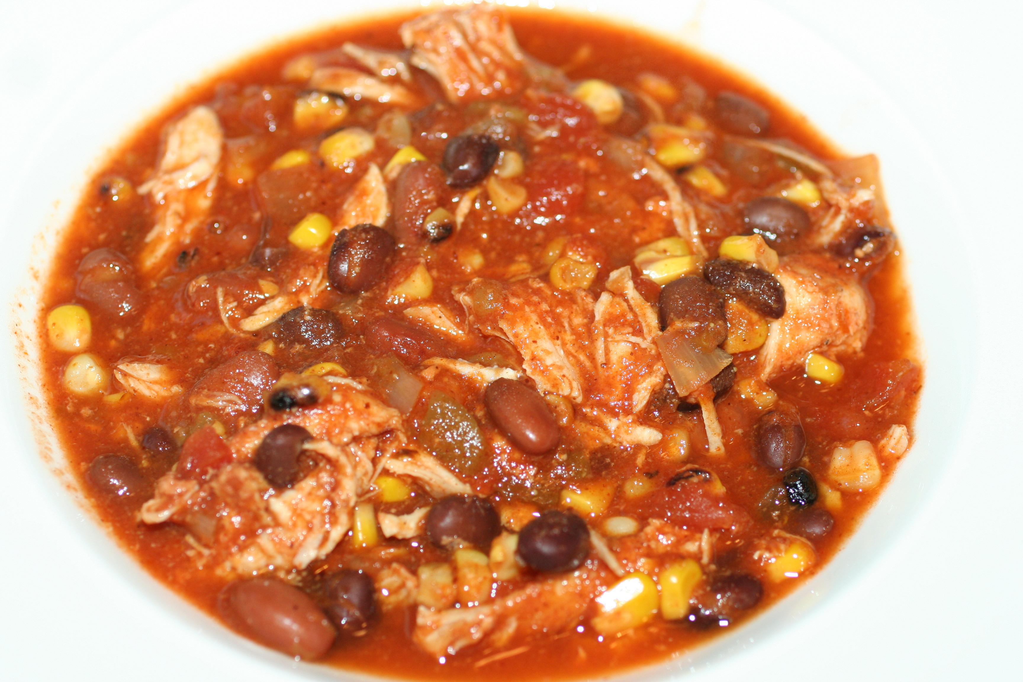Chicken Chili Recipes  Crock Pot Chicken Taco Chili Faithful Provisions