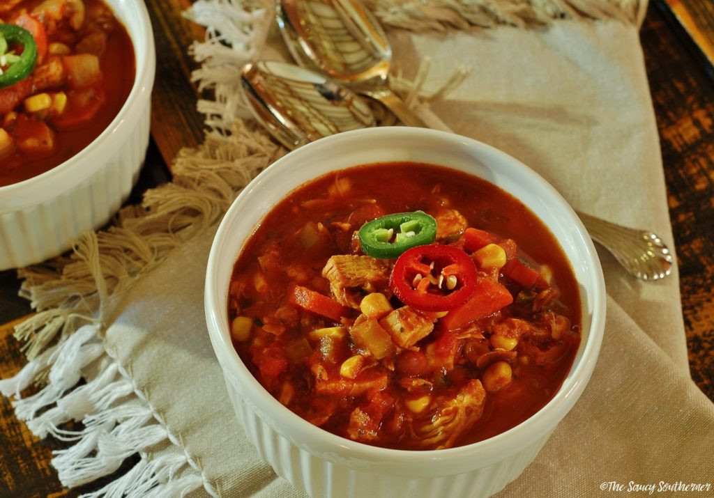 Chicken Chili Soup  Mexican Chicken Chili Copycat Soups SoupSwappers