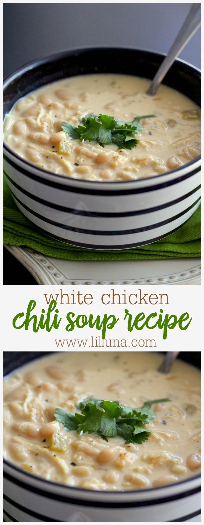 Chicken Chili Soup  BEST White Chicken Chili Recipe