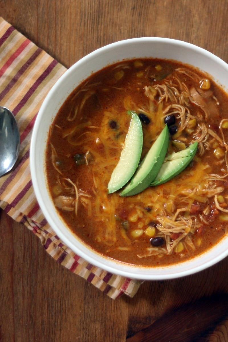 Chicken Chili Soup  Copycat Chili s Chicken Enchilada Soup