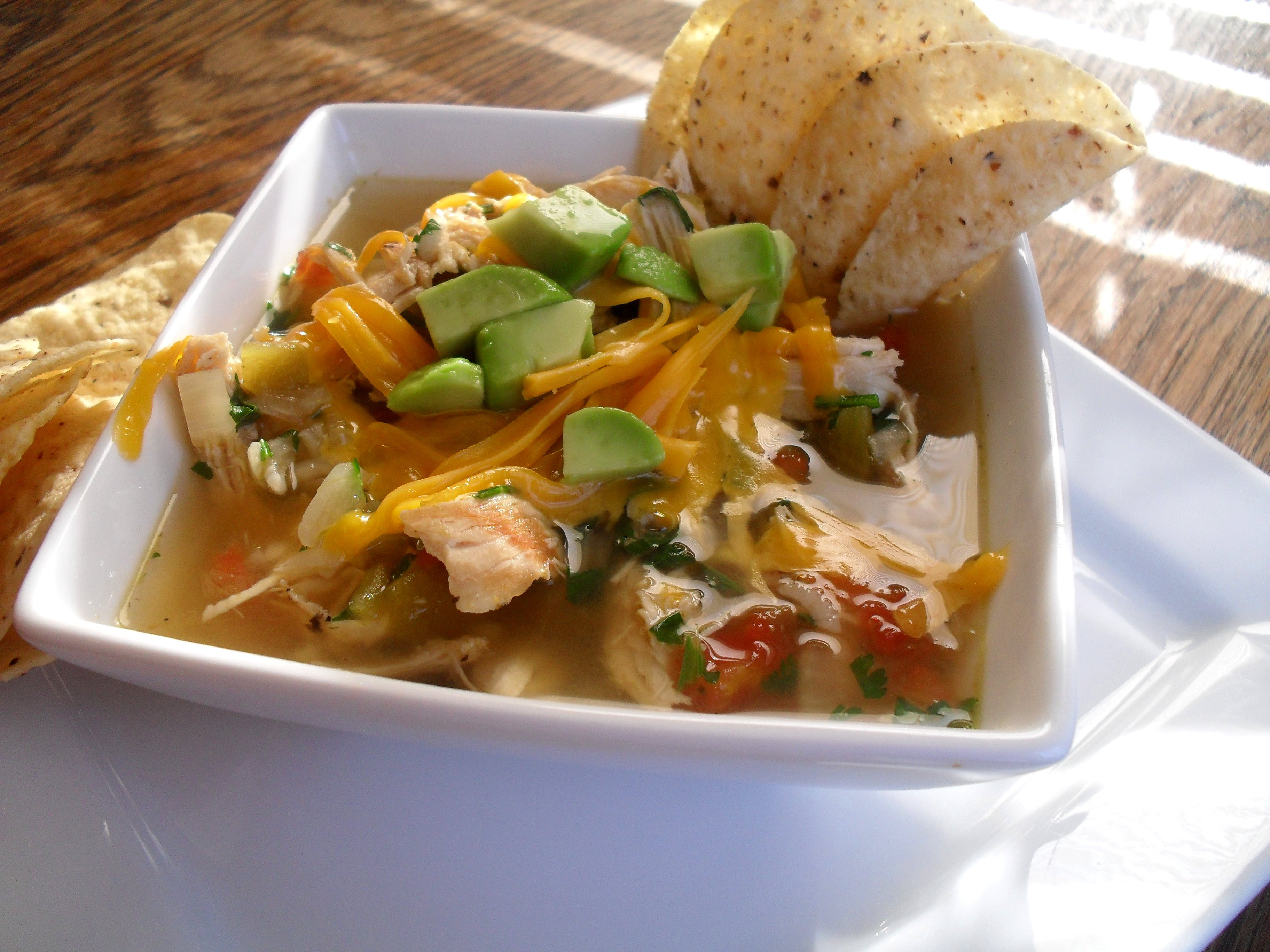 Chicken Chili Soup  Green Chili Chicken and Lime Soup