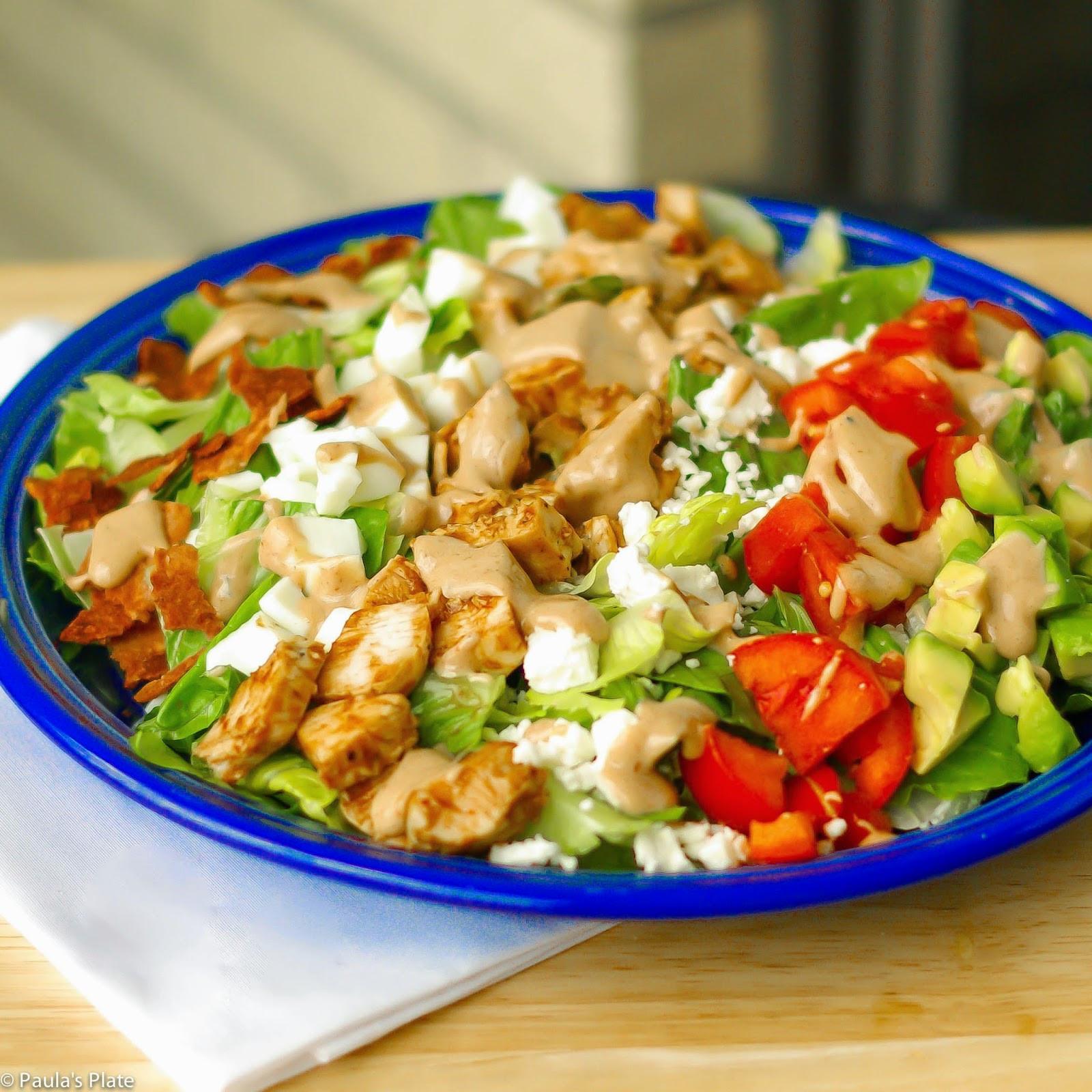 Chicken Cobb Salad  BBQ Chicken Cobb Salad – Paula s Plate