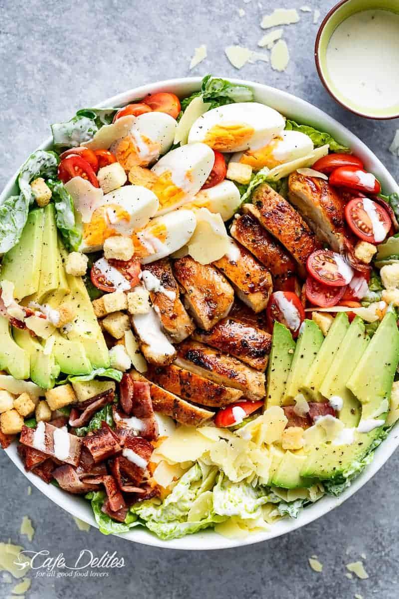 Chicken Cobb Salad  Grilled Chicken Cobb Caesar Salad Cafe Delites