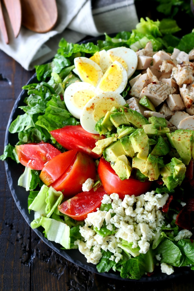 Chicken Cobb Salad  Healthy Chicken Cobb Salad Kim s Cravings