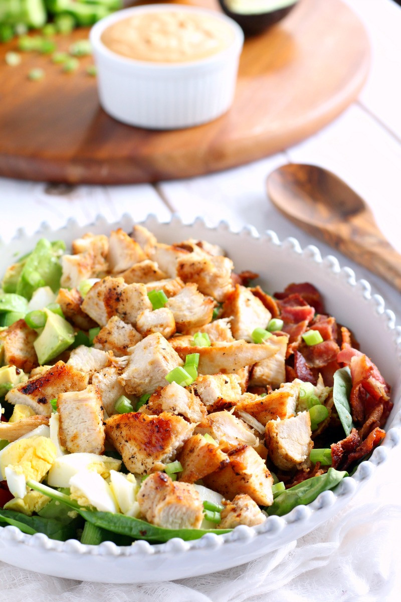 Chicken Cobb Salad  Paleo Chicken Cobb Salad with Buffalo Ranch Whole30