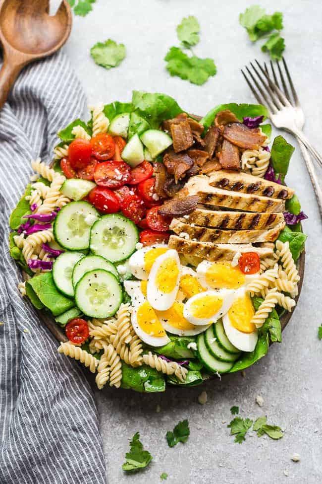 Chicken Cobb Salad  Balsamic Chicken Cobb Salad with Pasta