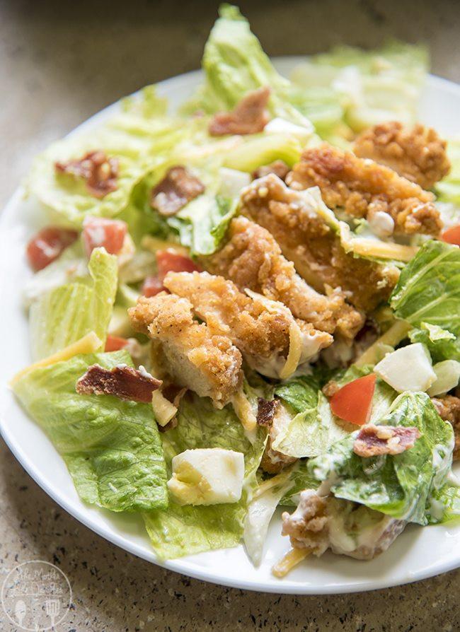 Chicken Cobb Salad  Crispy Chicken Cobb Salad Like Mother Like Daughter