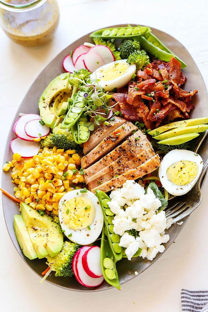 Chicken Cobb Salad  Summer Chicken Cobb Salad