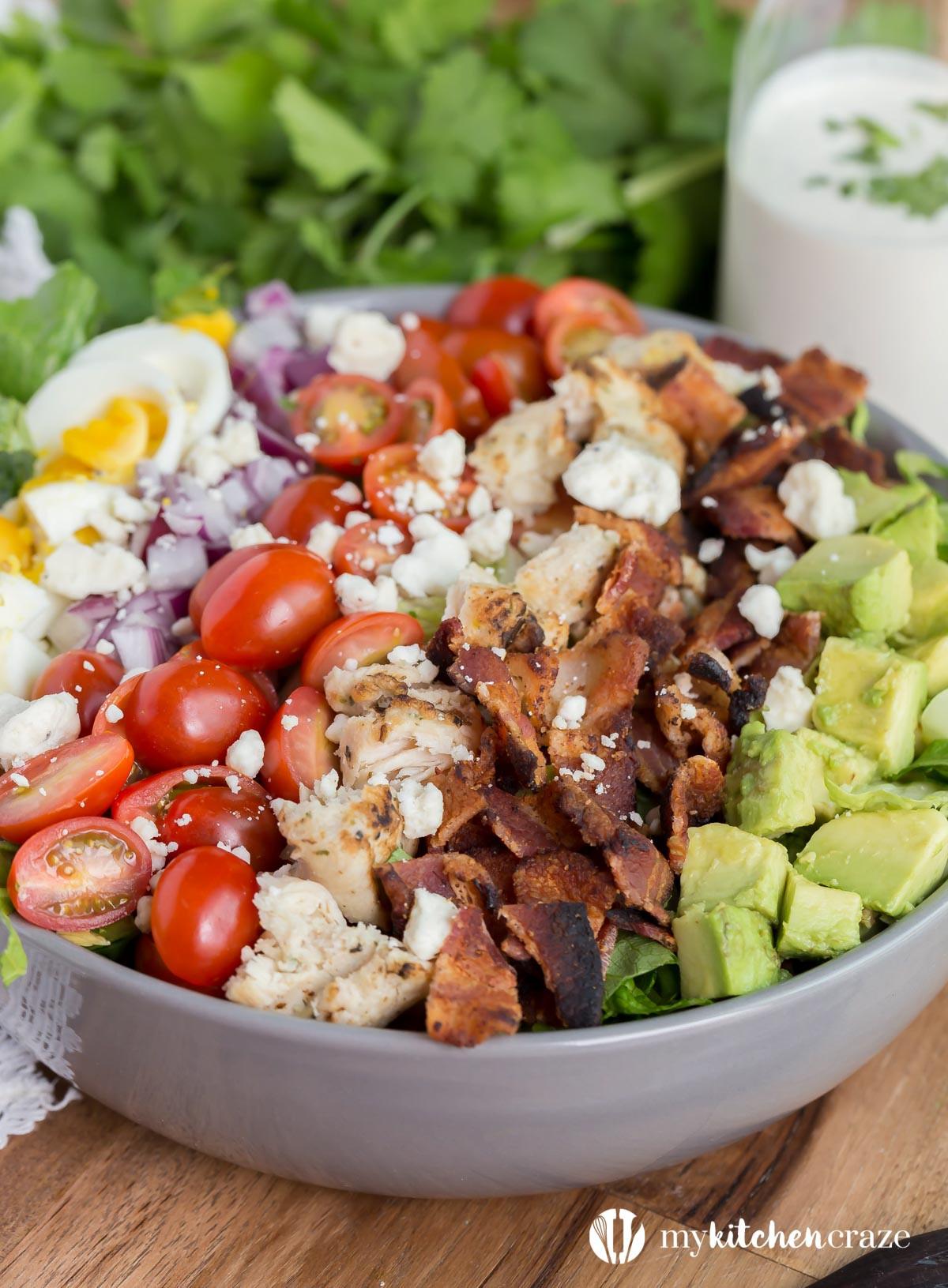 Chicken Cobb Salad  Cobb Salad and a Recipe Video My Kitchen Craze