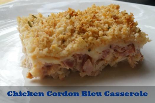 Chicken Cordon Bleu Casserole Recipe  Recipe Chicken Cordon Bleu Casserole QuickFixCasseroles