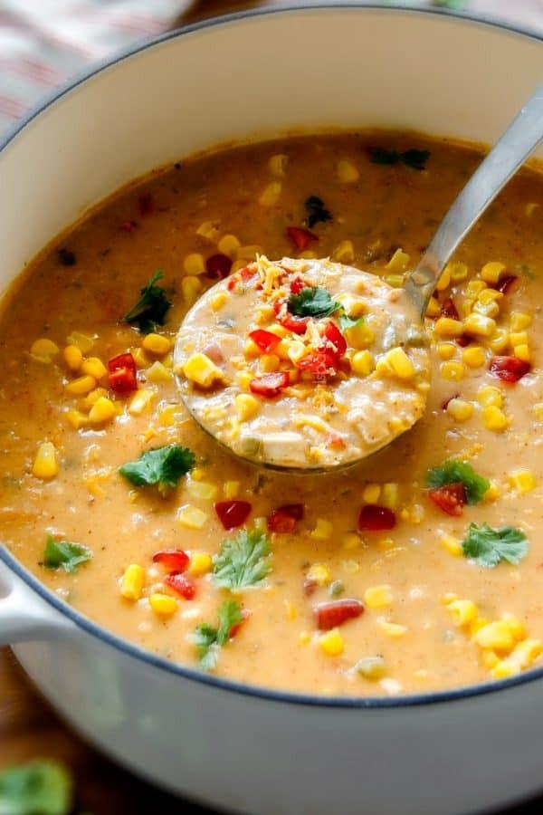 Chicken Corn Chowder  Creamy Mexican Chicken Corn Chowder 30 Minutes