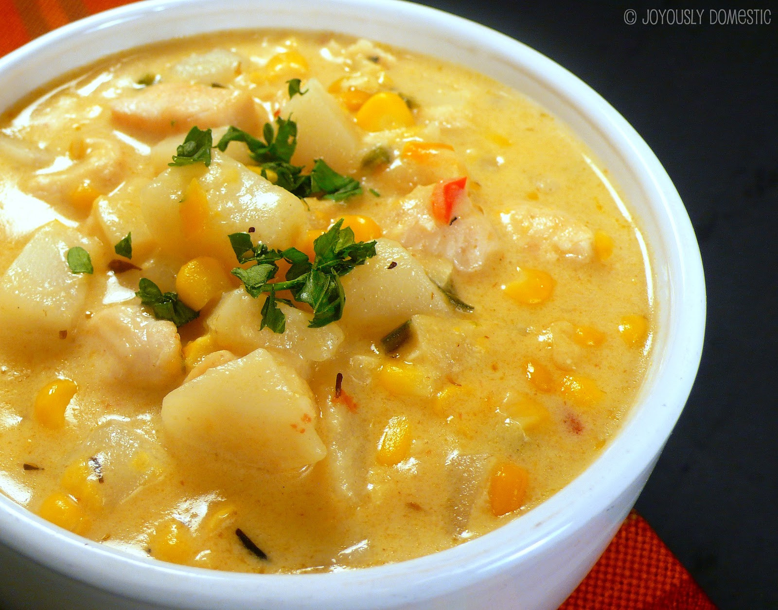 Chicken Corn Chowder  Joyously Domestic Chipotle Chicken and Corn Chowder