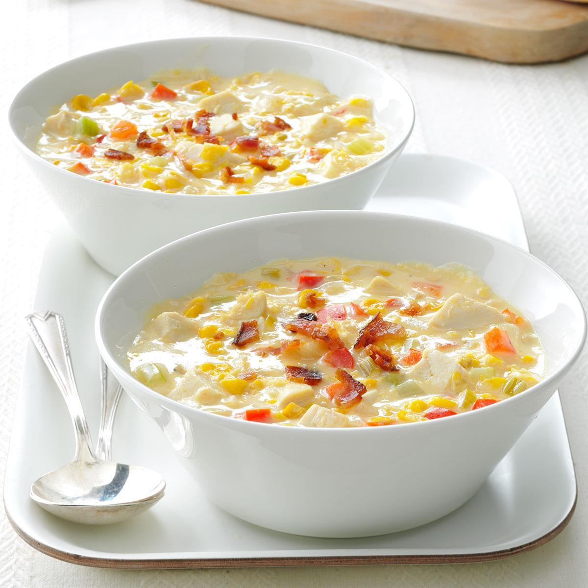 Chicken Corn Chowder  Easy Chicken Corn Chowder Recipe