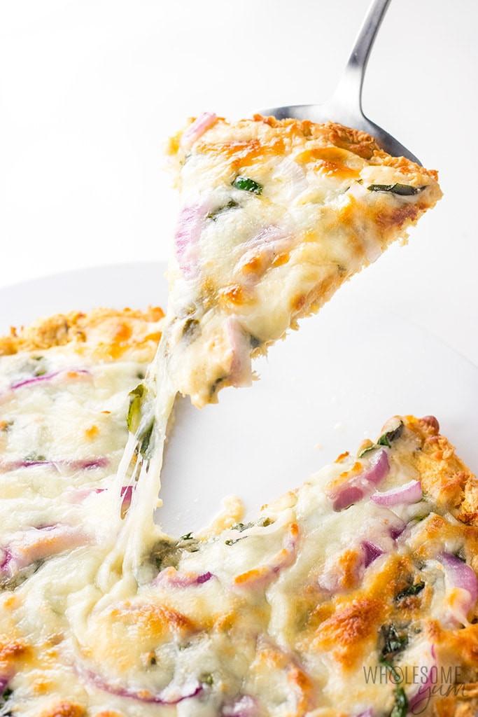 Chicken Crust Pizza Keto  Low Carb Keto Chicken Crust Pizza Recipe