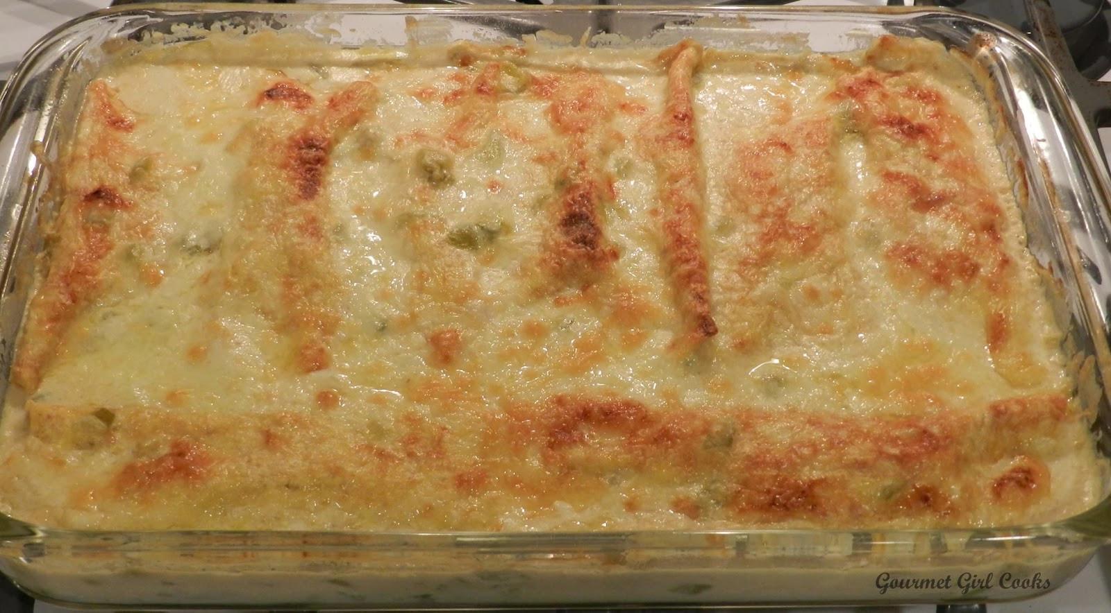 Chicken Enchilada Casserole  Gourmet Girl Cooks White Chicken Enchilada Casserole