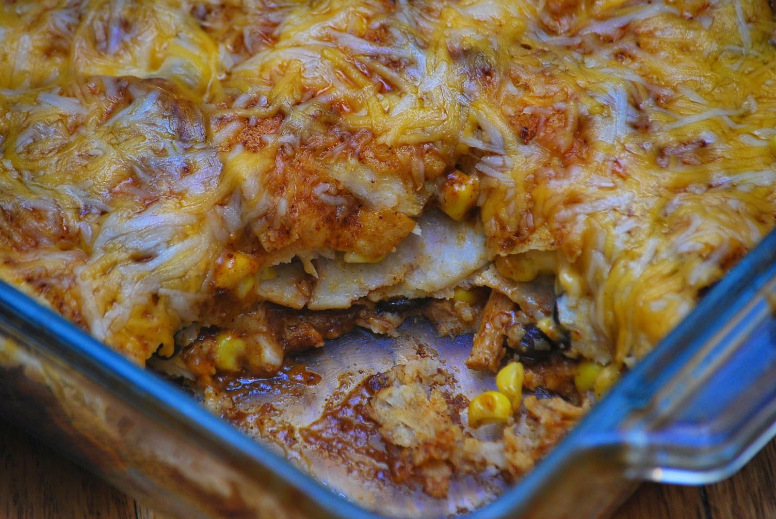 Chicken Enchilada Casserole  My story in recipes Chicken Enchilada Casserole