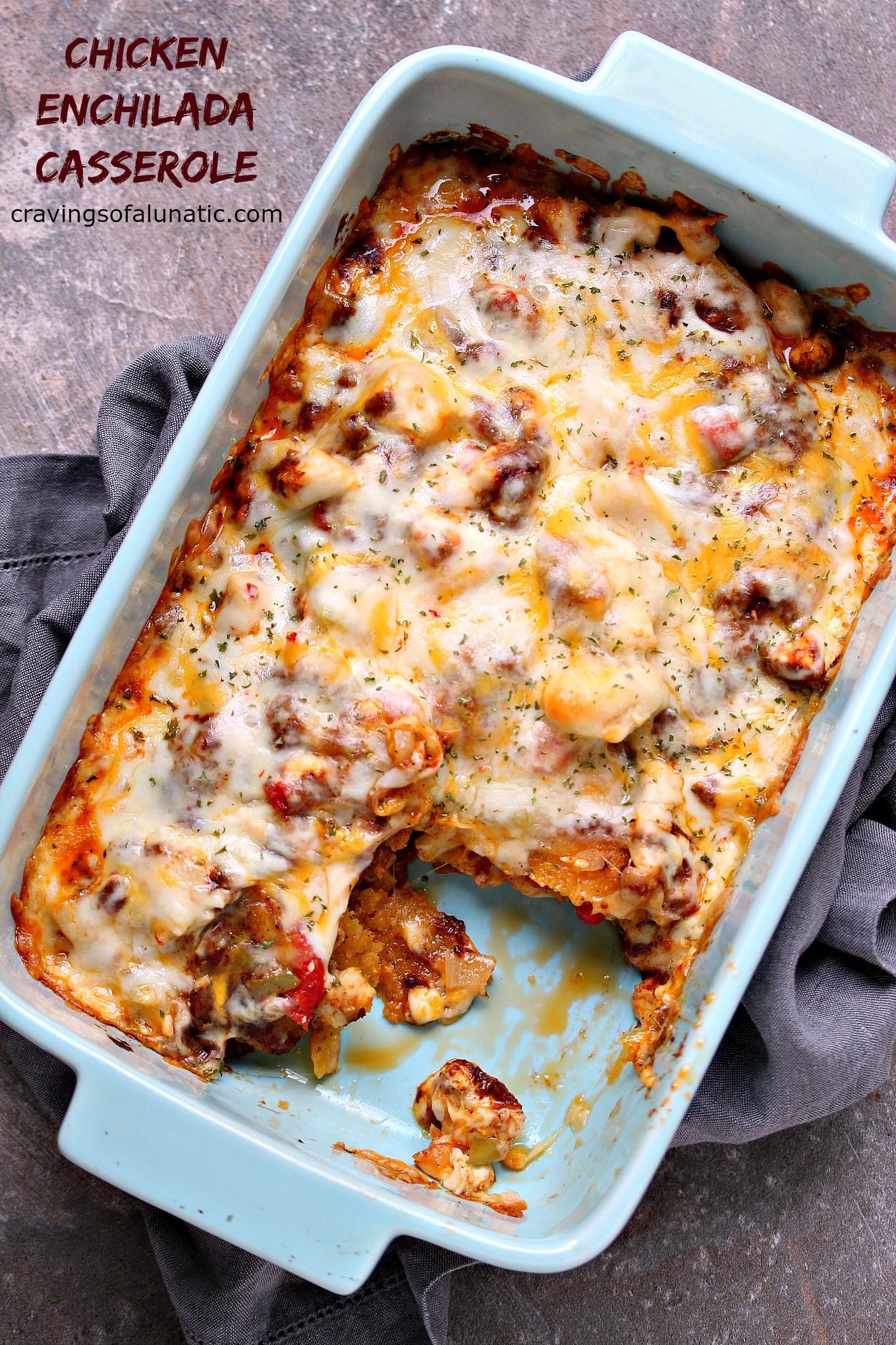 Chicken Enchilada Casserole  Easy Homemade Enchilada Sauce