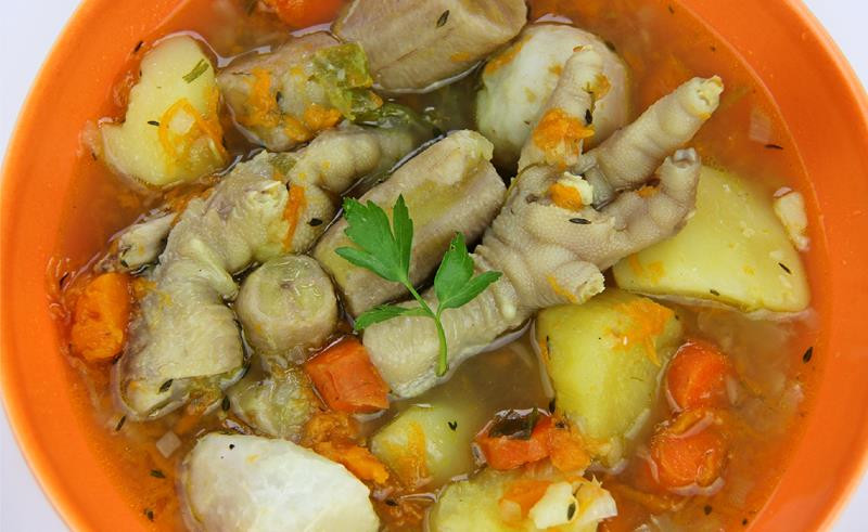 Chicken Feet Soup  Traditional Caribbean Chicken Foot Soup Recipe