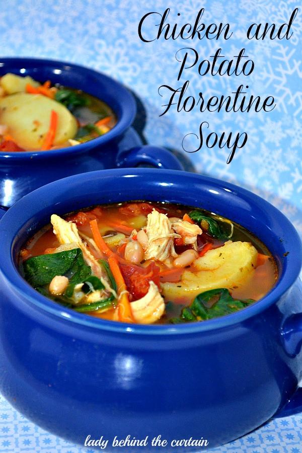 Chicken Florentine Soup  Chicken and Potato Florentine Soup