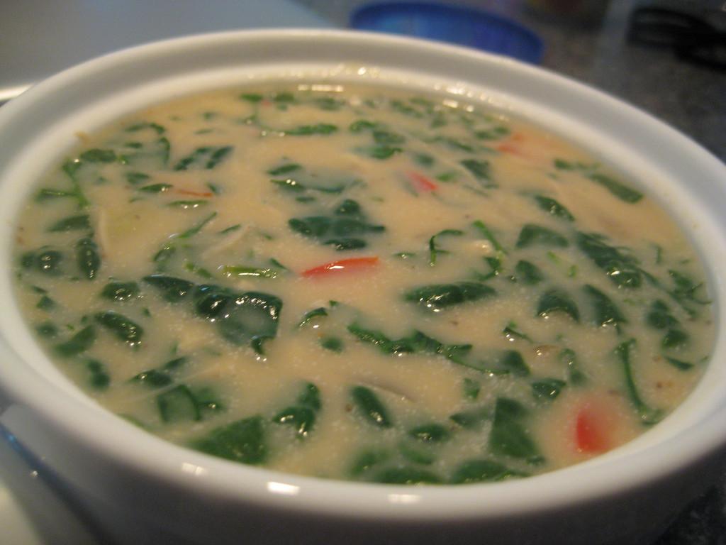 Chicken Florentine Soup  Creamy Chicken Florentine Soup