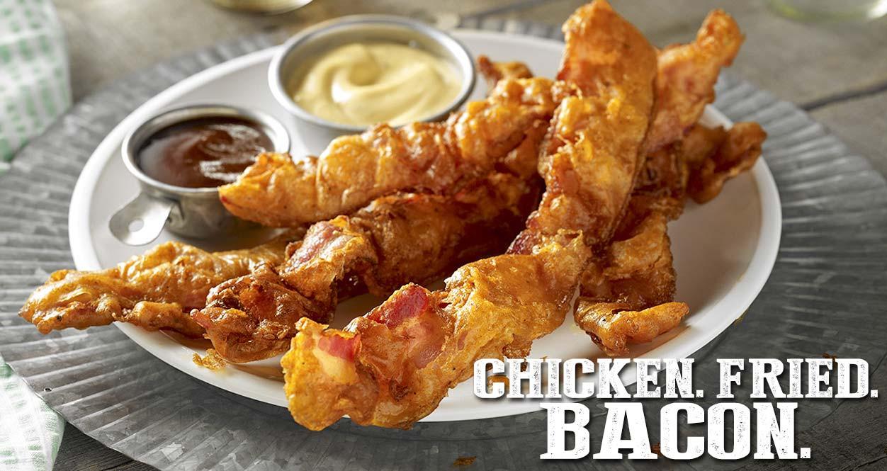 Chicken Fried Bacon  Farmland Bacon Club CHICKEN FRIED BACON RECIPE