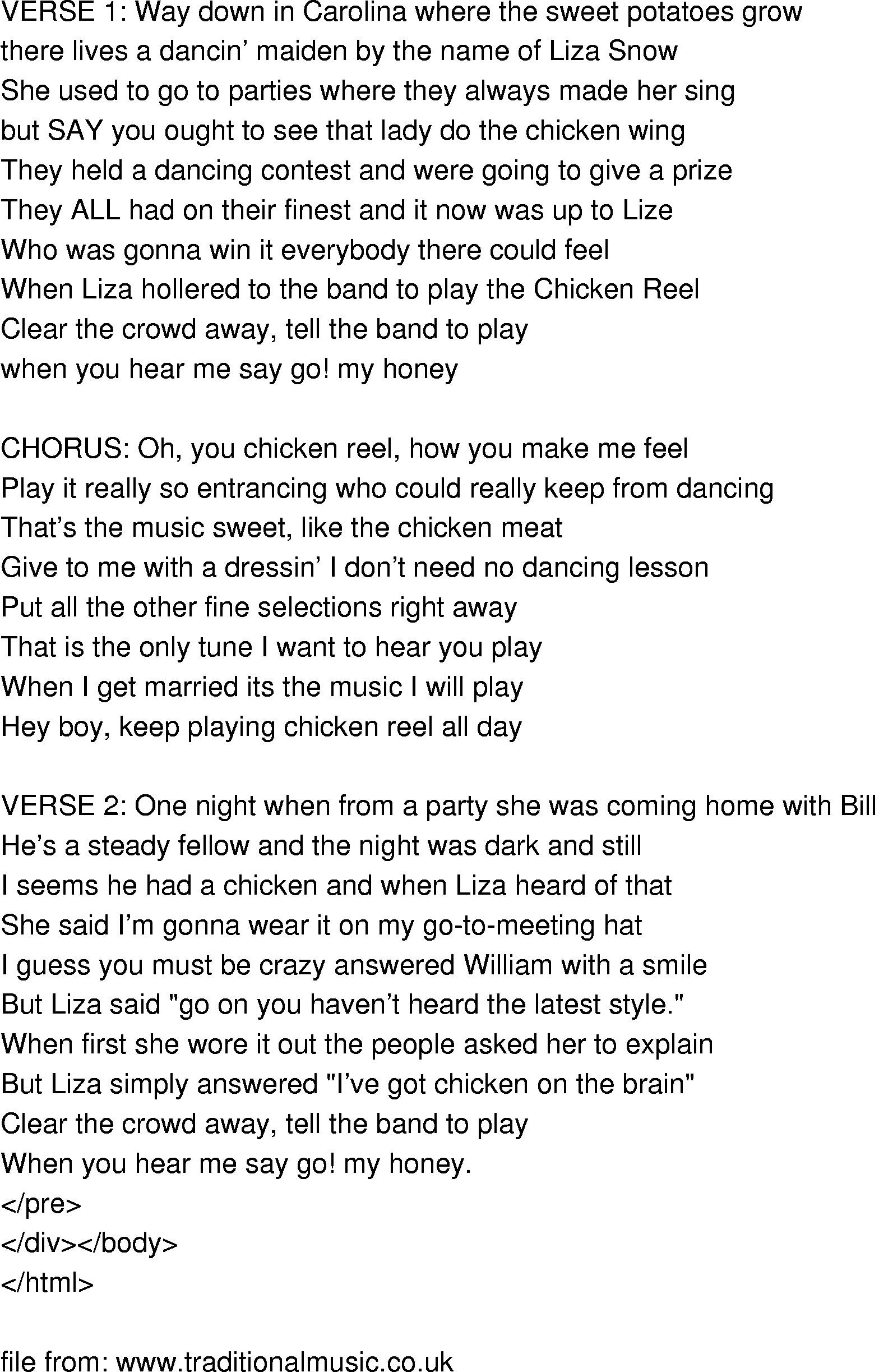 Chicken Fried Lyrics  chicken song lyrics