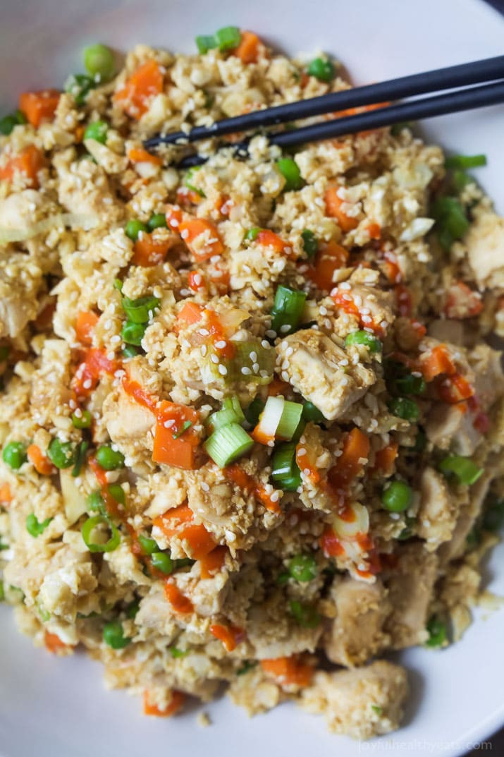 Chicken Fried Rice Calories  15 Minute Cauliflower Chicken Fried Rice