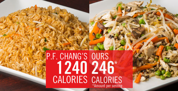 Chicken Fried Rice Calories  Chain Restaurant Favorites Get a Healthy Makeover P F