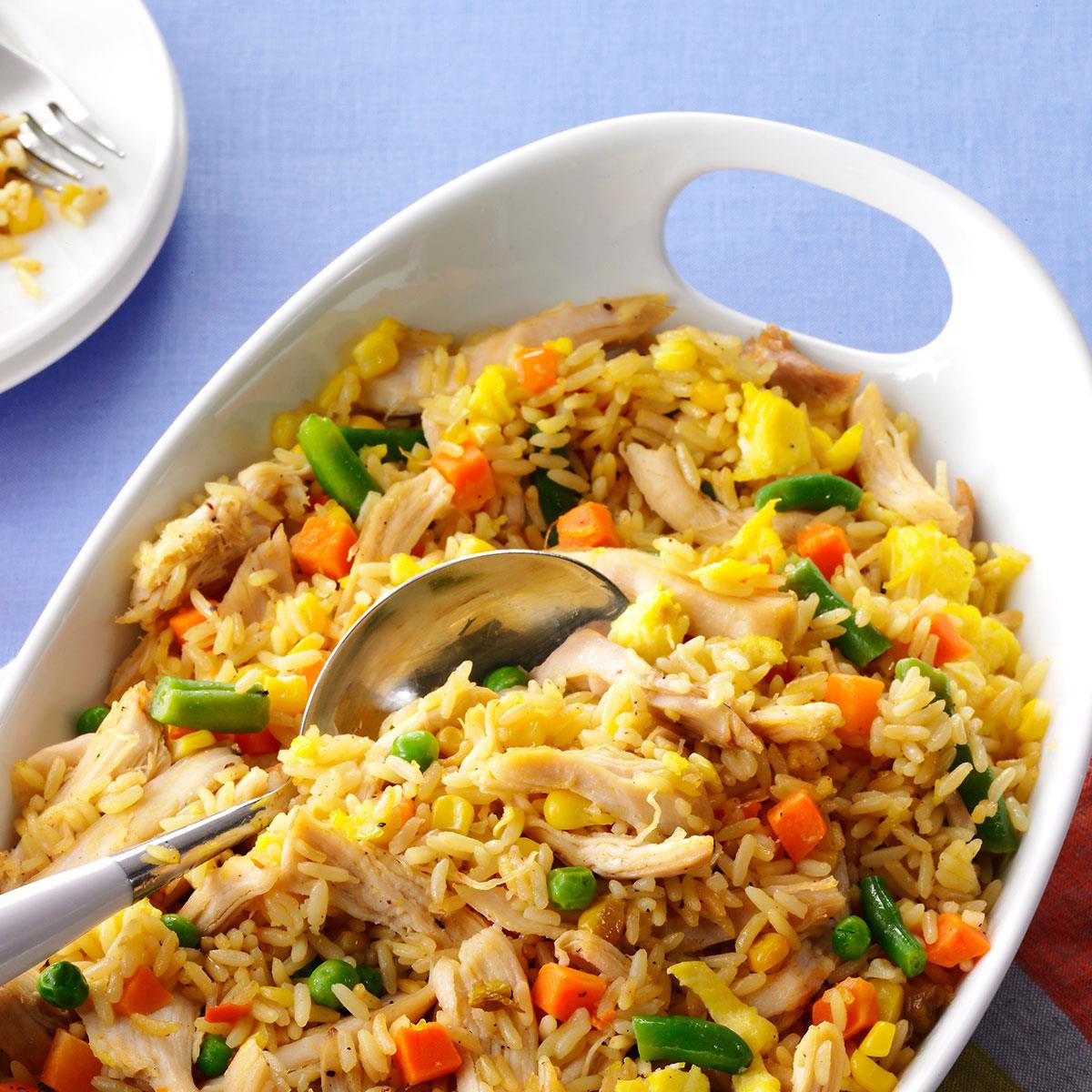 Chicken Fried Rice  Super Quick Chicken Fried Rice Recipe