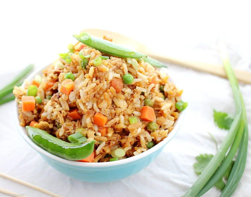 Chicken Fried Rice  Simple and Easy Chicken Fried Rice The Chunky Chef