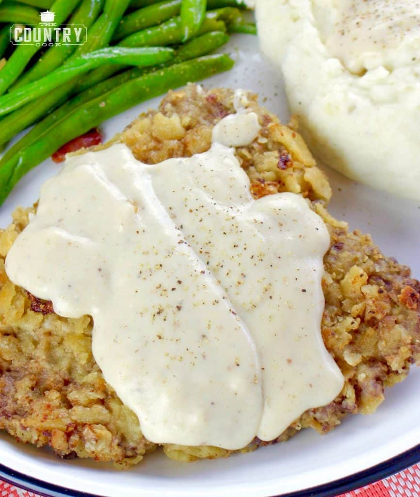Chicken Fried Steak  Chicken Fried Steaks with Sawmill Gravy The Country Cook