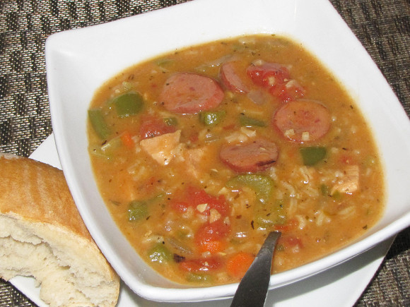 Chicken Gumbo Soup  Pinch of Lime Spicy Sausage and Chicken Gumbo Soup