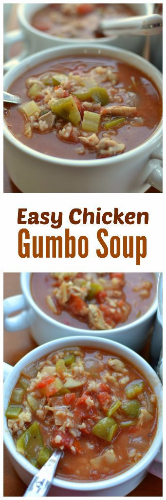 Chicken Gumbo Soup  Easy Chicken Gumbo Soup