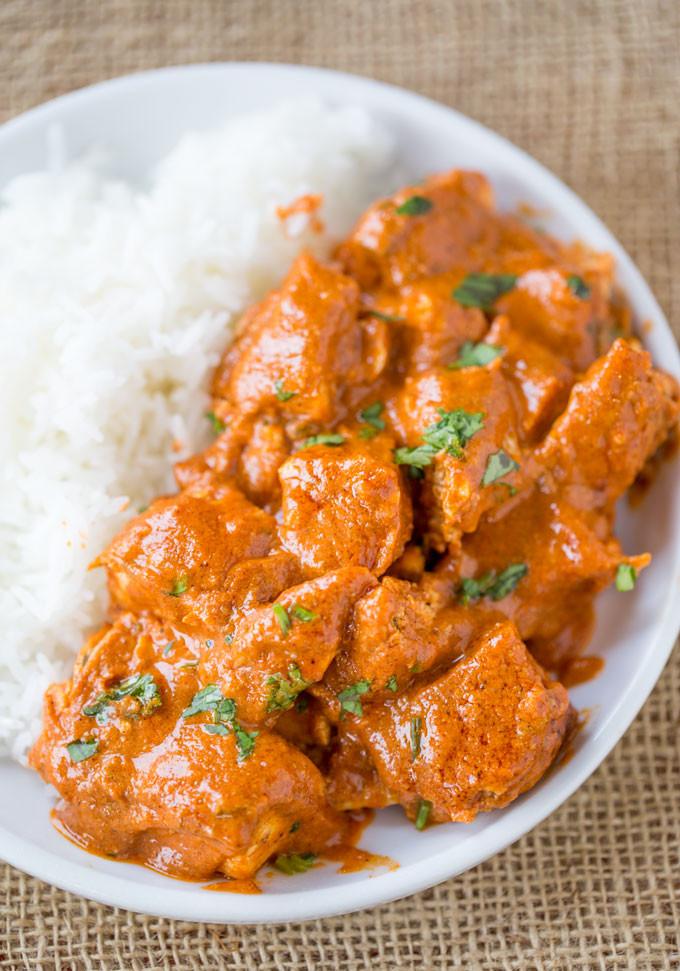 Chicken Indian Recipes  Slow Cooker Indian Butter Chicken Recipe Dinner Then Dessert
