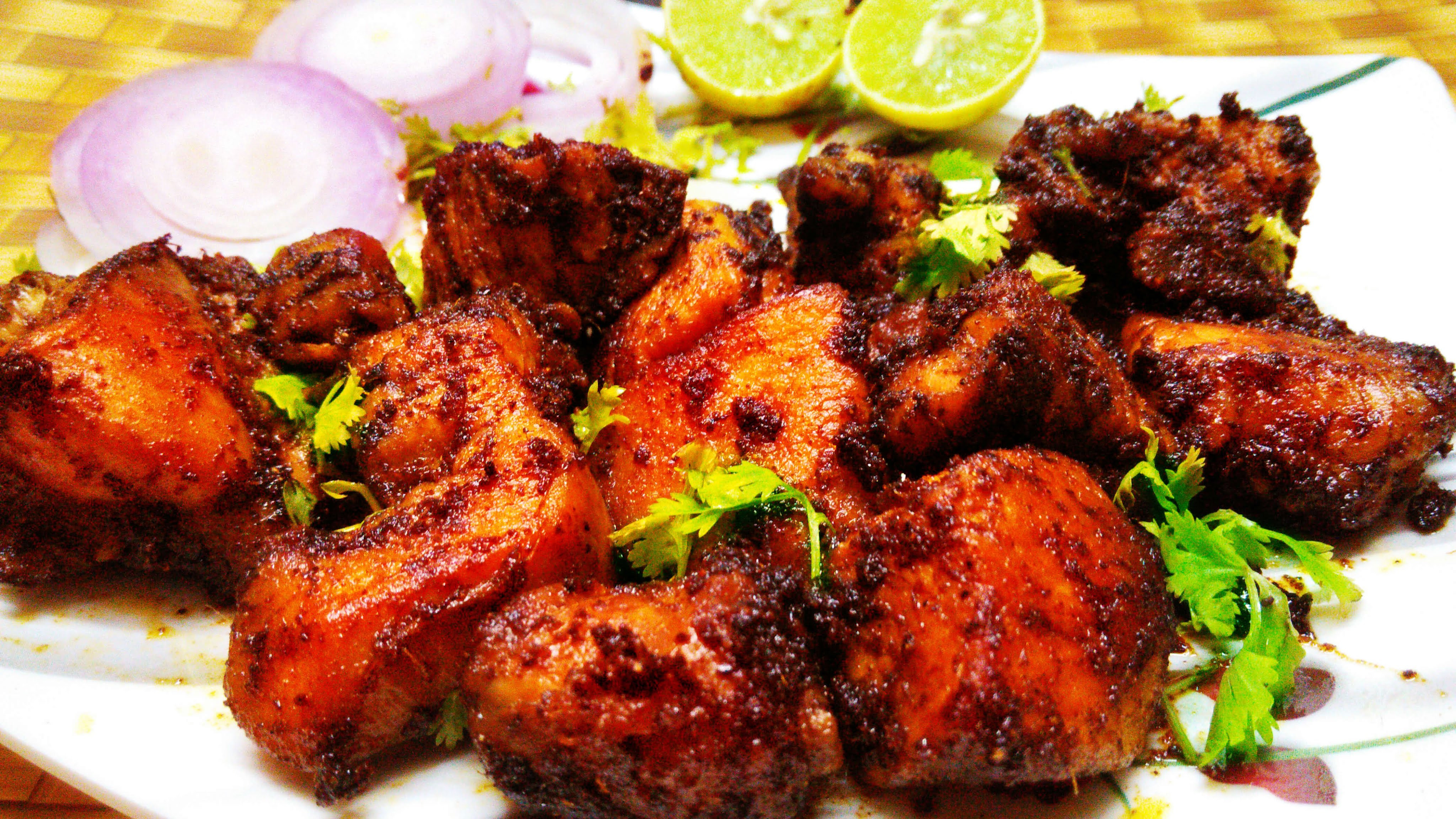 Chicken Indian Recipes  South Indian Spicy Chicken Fry Recipe