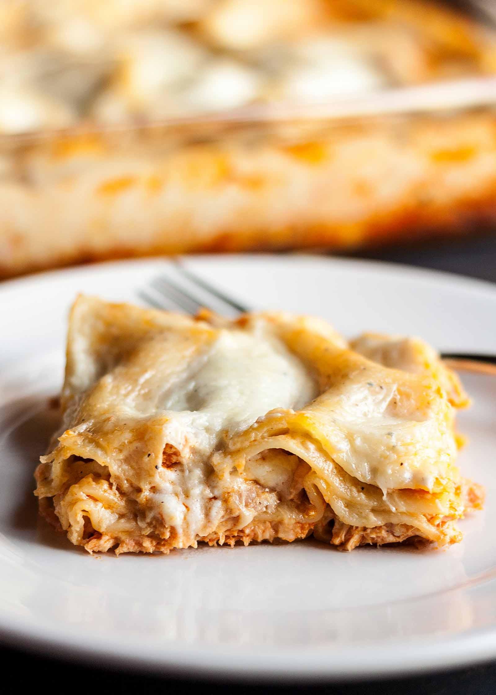 Chicken Lasagna Recipe  Buffalo Chicken Lasagna Recipe