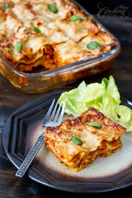 Chicken Lasagna Recipe  Chicken Lasagna Home Cooking Adventure