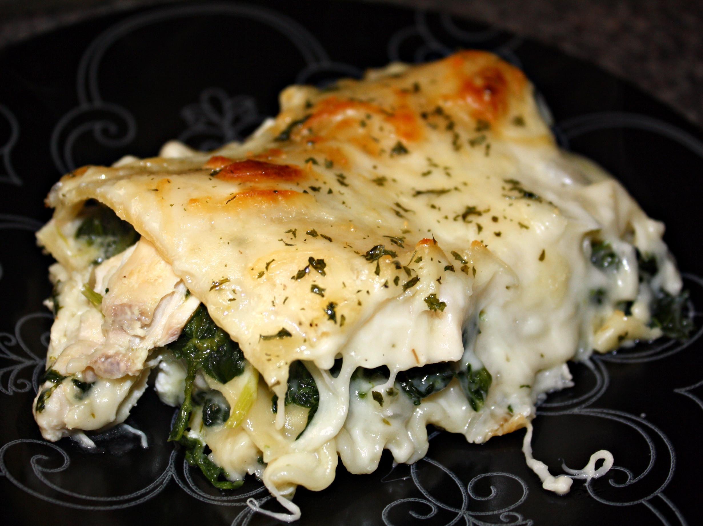 Chicken Lasagna Recipe  chicken spinach lasagna