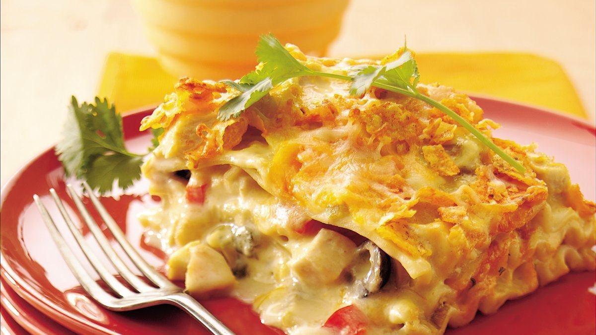 Chicken Lasagna Recipe  Mexican Chicken Sour Cream Lasagna Life Made Delicious