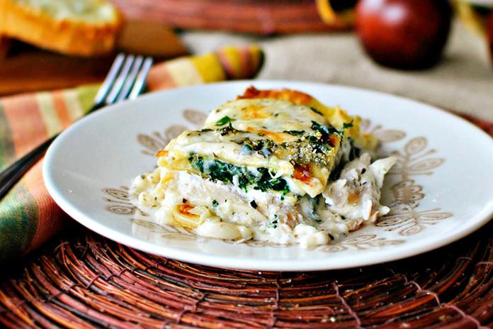 Chicken Lasagna Recipe  White Cheese and Chicken Lasagna