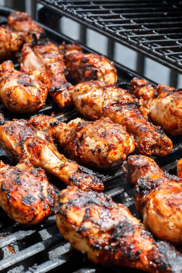 Chicken Legs On Grill  Grilled Chicken Drumsticks with Garlic Harissa Marinade