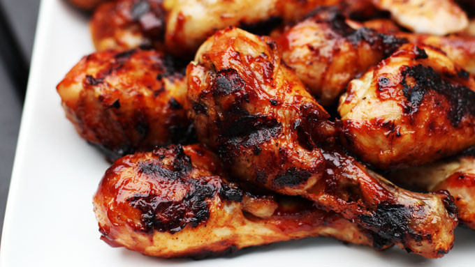 Chicken Legs On Grill  Grilled Barbecued Chicken Legs