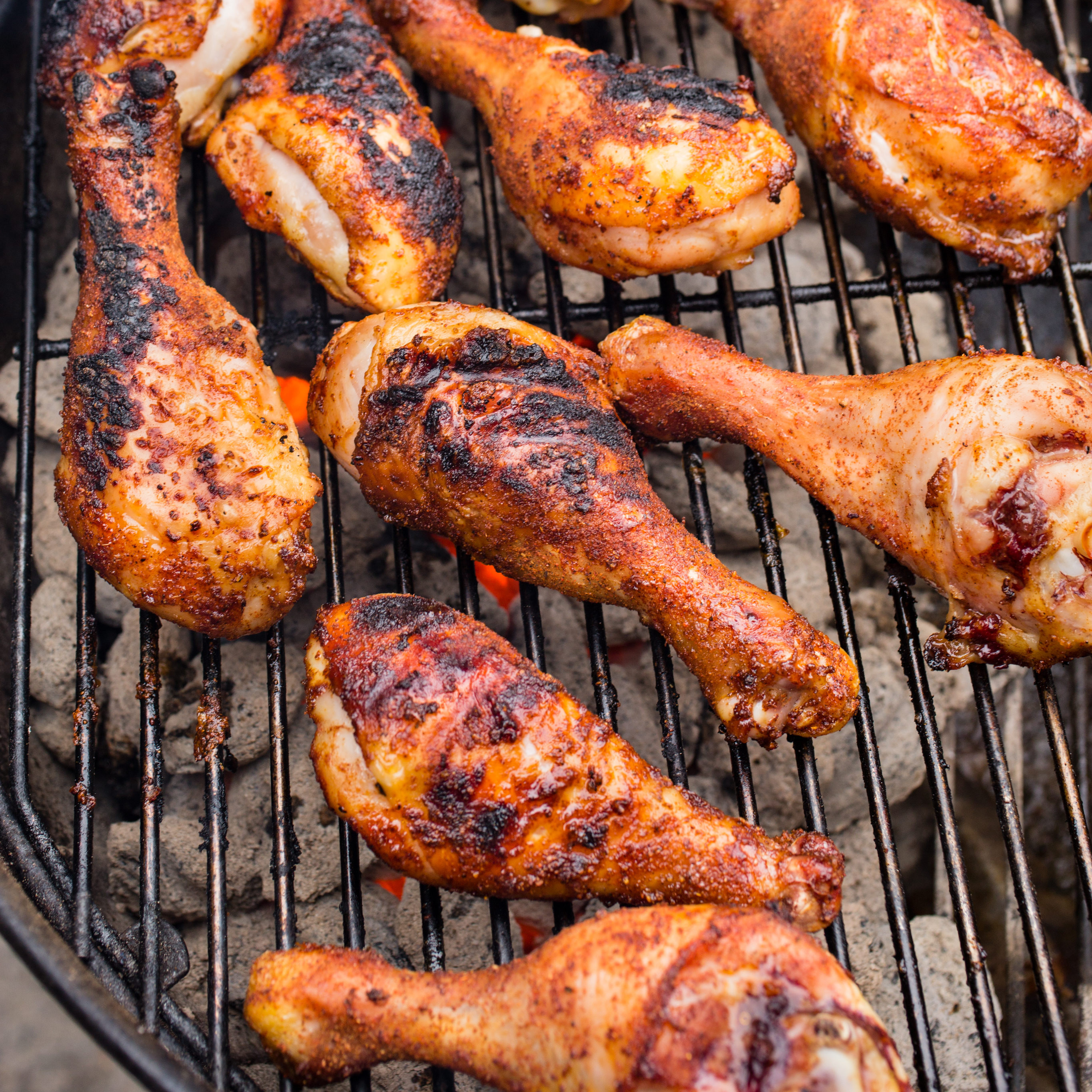 Chicken Legs On Grill  Grilled Spice Rubbed Chicken Drumsticks