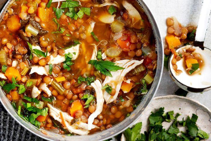 Chicken Lentil Soup  Chicken and lentil soup