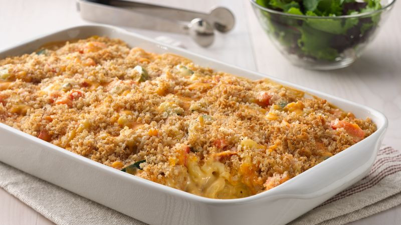 Chicken Mac And Cheese Casserole  Macaroni and Cheesy Chicken Baked Casserole Recipe