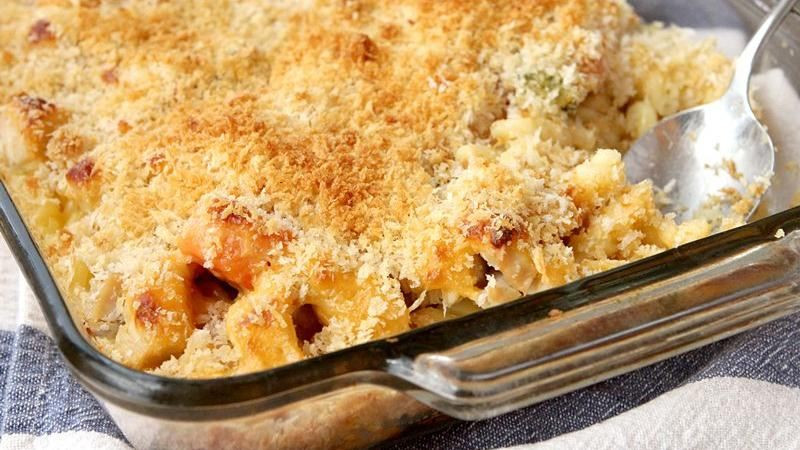 Chicken Mac And Cheese Casserole  Macaroni and Cheesy Chicken Baked Casserole recipe from